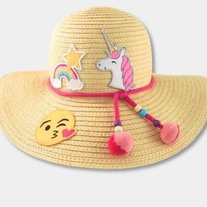 Other - Adorable girls (or small adult)straw emoji sunhat
